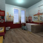 circus-wallpaper+wooden-floor