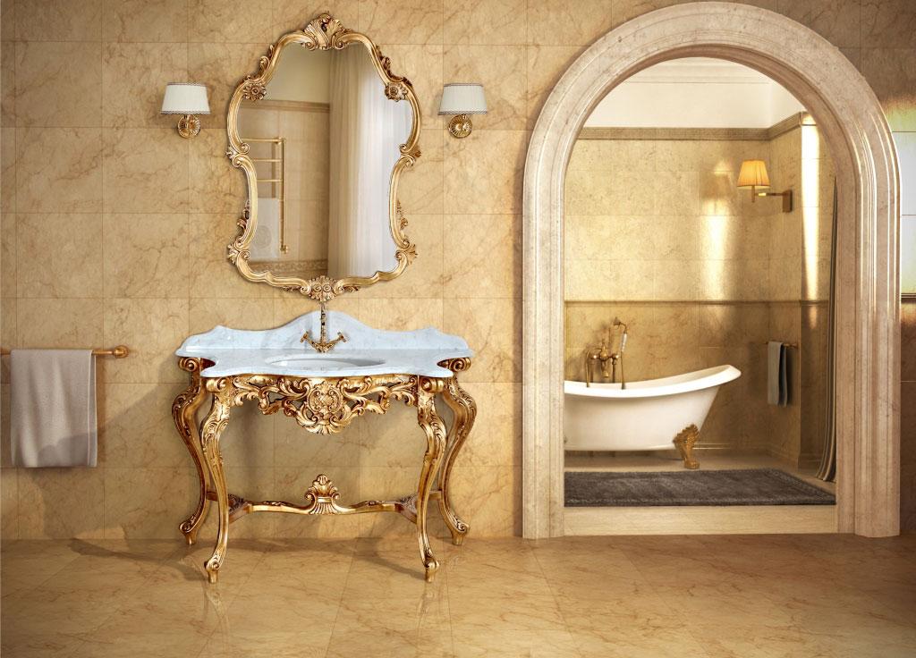 Epoque volturno for Arredo bagno classico elegante