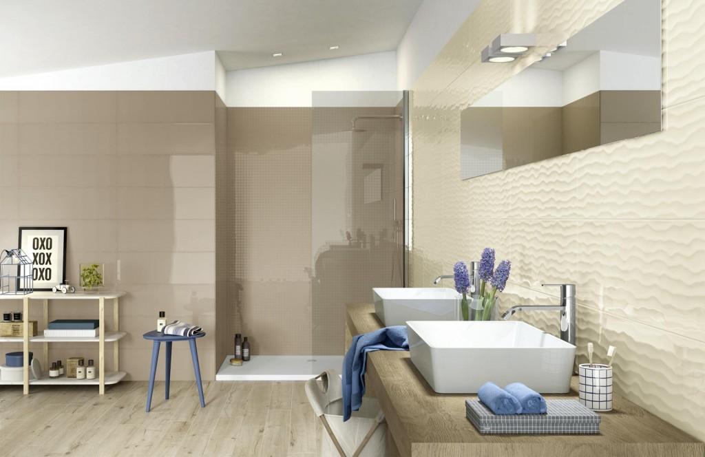 frame khaki + cream bathroom - bania karamel i vanilia