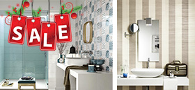 Коледни предложения за средни и големи бани До края на годината можете да изберете вашата баня с плочки в размер 25/76см на неустоими цени!