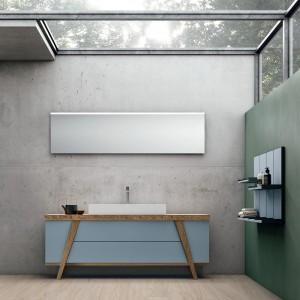 Мебели за баня с естествено дърво